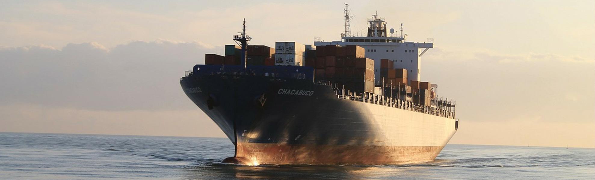 Containerschiff Chacabuco auf See 1978x600 | Verein Bremer Spediteure